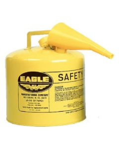 5 Gal. Yellow Diesel Safety Can, W/ FUNNEL - 48441221837