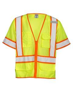6 Pocket Contrast Mesh Vest