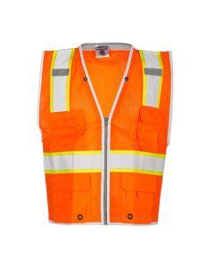 Orange Premium Brilliant Series Heavy Duty Vest