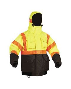 Kent Hi-Vis Deluxe Flotation Jacket with ArcticShield Hood
