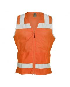 Orange Hi-Vis Ladies Mesh Vest
