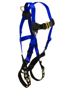 Contractor Non-belted Harness with 1 Back D-ring; Tongue Buckle Legs and Mating Buckle Chest.