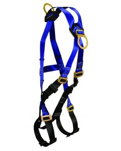 Contractor Climbing Harness 4 D-rings, Back, Side and Front; Mating Buckle Legs and Chest