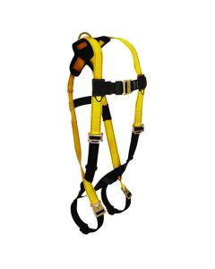Journeyman FLEX Steel Harness with 1 Back D-ring; Quick Connect Legs and Chest.