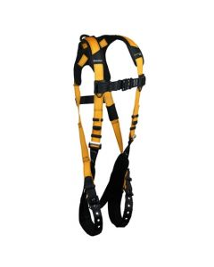 Journeyman FLEX Aluminum Harness with 1 Back D-ring; Tongue Buckle Legs and Quick Connect Chest