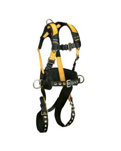 Journeyman FLEX Steel Harness with 3 D-rings, Back and Side; Tongue Buckle Legs and Mating Buckle Chest