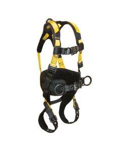 Journeyman FLEX Aluminum Harness with 3 D-rings, Back and Side; Tongue Buckle Legs and Quick Connect Chest