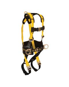 Journeyman FLEX Steel Harness with 3 D-rings, Back and Side; Quick Connect Legs and Chest