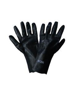 "12"" Black PVC, Unlined, Rough Finished Glove - DOZEN. ONE SIZE FITS MO - 817000000000"