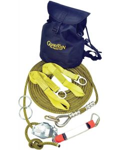 2-Person 60' Guardian Fall Protection Kernmantle Rope Horizontal Lifel - Anchors/Lanyards/Hooks:04639