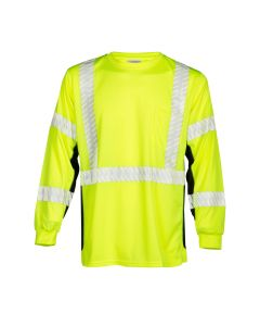 Long Sleeve Microfiber Black Series T-Shirt CLASS 3 - L - 9134-L