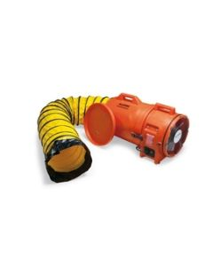 """Allegro Industries 12"""" Axial AC Plastic Blower w/ Canister & 25' Ducti - 9543-25"""