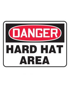 Red-Hard Hats Required Safety Sign