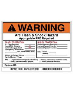 Arc Flash Warning Sign