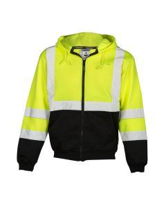 Hi-Vis Hoodie Sweatshirt with Zipper-4XL (4XL) - JS102-4XL