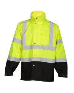 Hi-Vis Storm Cover Rainwear Jacket - RWJ102-S-M